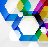 Rainbow hexagons modern design template Royalty Free Stock Photos