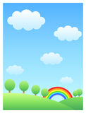 Rainbow & hill Royalty Free Stock Photography