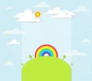 Rainbow on the hill Stock Photography