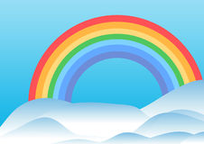 Rainbow and hills Royalty Free Stock Image