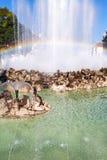 Rainbow in Hochstrahlbrunnen fountain, Vienna Royalty Free Stock Image