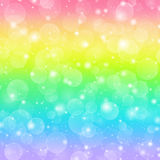 Rainbow holiday background. With bokeh lights Royalty Free Stock Image