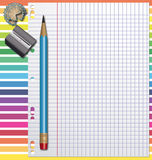 Rainbow homeworks background. Royalty Free Stock Images