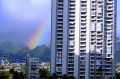 Rainbow Honolulu Hawaii Royalty Free Stock Photos