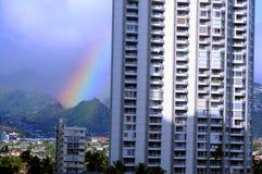 Rainbow Honolulu Hawaii Royalty Free Stock Photos