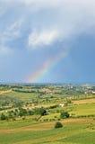 Rainbow at horizon Stock Photo