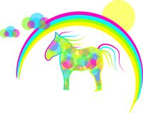 Rainbow horse Stock Image