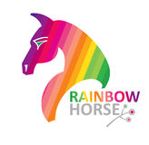 Rainbow horse. Stock Photography