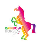 Rainbow horse. Stock Photos