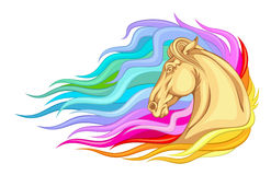 Rainbow horse Stock Photos