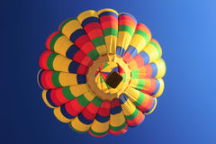 Rainbow Hot Air Balloon bottom view Stock Images