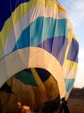 Rainbow hot air balloon Royalty Free Stock Photo