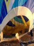 Rainbow hot air balloon Stock Photography