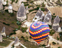Rainbow hot air balloons Royalty Free Stock Photo