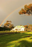Rainbow&House Stock Photos
