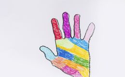 Rainbow Human hand Royalty Free Stock Images