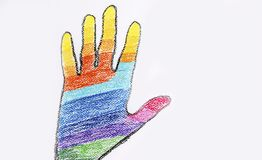 Rainbow Human hand Royalty Free Stock Photos