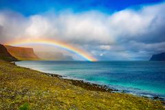 Rainbow in Iceland royalty free stock images