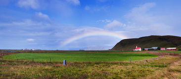 Rainbow. Iceland. Royalty Free Stock Image