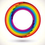 Rainbow icon. stock illustration