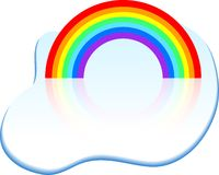 Rainbow icon. Stock Photo