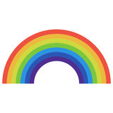 Rainbow icon flat Stock Image
