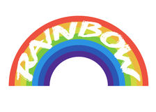 Rainbow icon flat Stock Photo