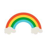 Rainbow icon in flat style design. Irish St. Patrick Day symbol Royalty Free Stock Photo