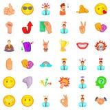 Rainbow icons set, cartoon style. Rainbow icons set. Cartoon style of 36 rainbow vector icons for web isolated on white background Royalty Free Stock Photography