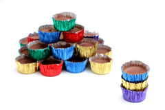 Rainbow Icy Cups Royalty Free Stock Photos