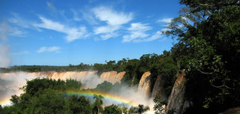 rainbow at iguazu falls Royalty Free Stock Photography