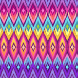 Rainbow aztec ikat print royalty free illustration