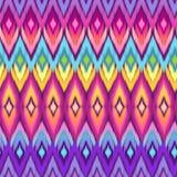 Rainbow aztec ikat print Stock Image