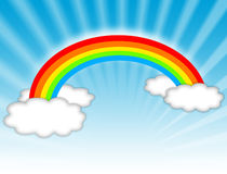 Rainbow illustration royalty free stock photography