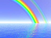 Rainbow illustration Stock Photos