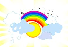 Rainbow illustration Stock Image