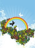 Rainbow illustration Royalty Free Stock Photo