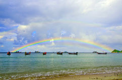 Free Rainbow In The Sky On The Sea Royalty Free Stock Photography - 22044567