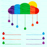 Rainbow info graphic. Vector weather info graphic in rainbow colour Stock Photos
