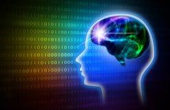 Rainbow Intelligent Artificial. illustration background image. Stock Photos