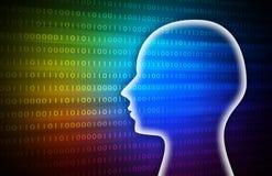 Rainbow Intelligent Artificial. illustration background image. Royalty Free Stock Photo