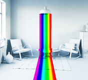 Rainbow in the interior Royalty Free Stock Photography