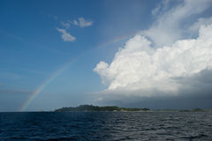 Rainbow island at belitung indonesia Royalty Free Stock Images