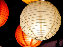 Rainbow of japan lamp interior indoor in public night plaza Stock Image