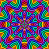 Rainbow Kaleidoscope Royalty Free Stock Photography