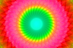 Rainbow kaleidoscope. Abstract fractal colorful rainbow kaleidoscope royalty free illustration