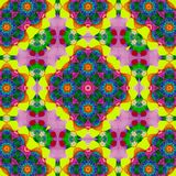 Rainbow kaleidoscope design for square pocket, shawl, textile. Paisley floral pattern. Kaleidoscope design for square pocket, shawl, textile. Paisley floral vector illustration