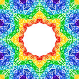 Rainbow kaleidoscope vector colorful background Stock Images