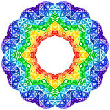 Rainbow kaleidoscope vector vibrant circle Royalty Free Stock Photography