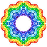 Rainbow kaleidoscope vector vibrant circle Royalty Free Stock Photos
